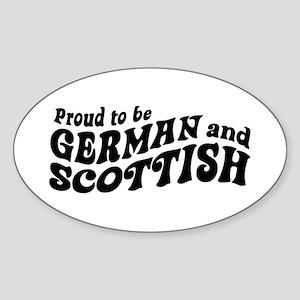 German and Scottish Sticker (Oval)