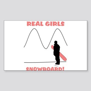 Real Girls Snowboard! Sticker (Rectangle)