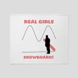 Real Girls Snowboard! Throw Blanket
