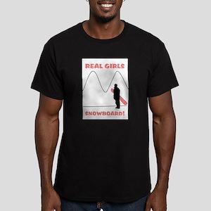 Real Girls Snowboard! Men's Fitted T-Shirt (dark)
