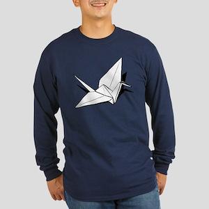 The Paper Crane Long Sleeve Dark T-Shirt