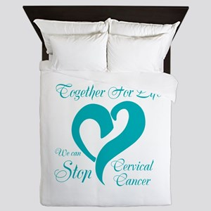 Stop Cervical Cancer Queen Duvet