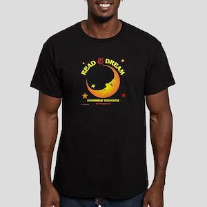 READ & DREAM Men's Fitted T-Shirt (dark)