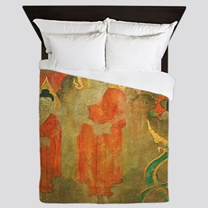 Asian Art Decorative Queen Duvet