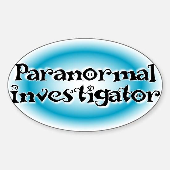 Paranormal Investigator Sticker (Oval)