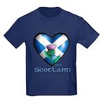 Kids Scot thistle Dark T-Shirt