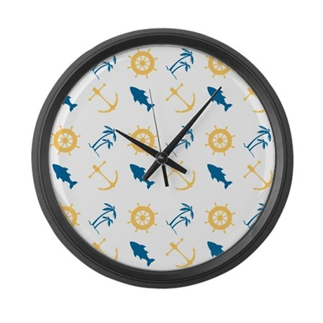 Beach Marine Life Large Wall Clock