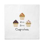 Live Love Cupcakes Queen Duvet