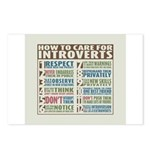 Care for Introverts Postcards (Package of 8)