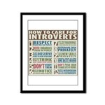 Care for Introverts Framed Panel Print