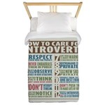 Care for Introverts Twin Duvet