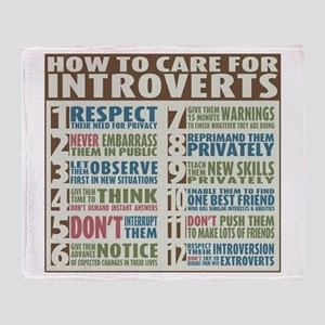 Care for Introverts Throw Blanket