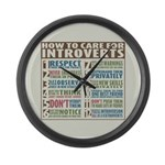 Care for Introverts Large Wall Clock