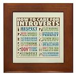 Care for Introverts Framed Tile