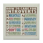 Care for Introverts Tile Coaster