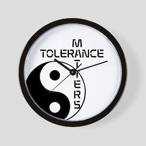 Tolerance Matters Wall Clock