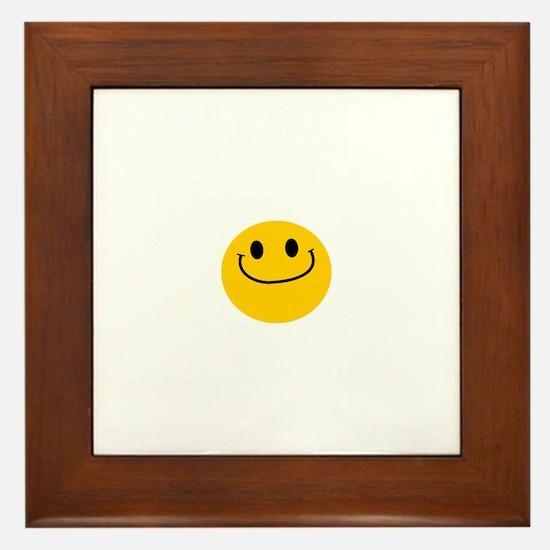 Smug Smiley Framed Tile
