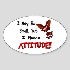 I May Be Small (Chihuahua) Oval Sticker