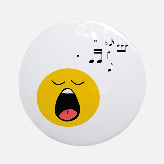 Singing Smiley Ornament (Round)