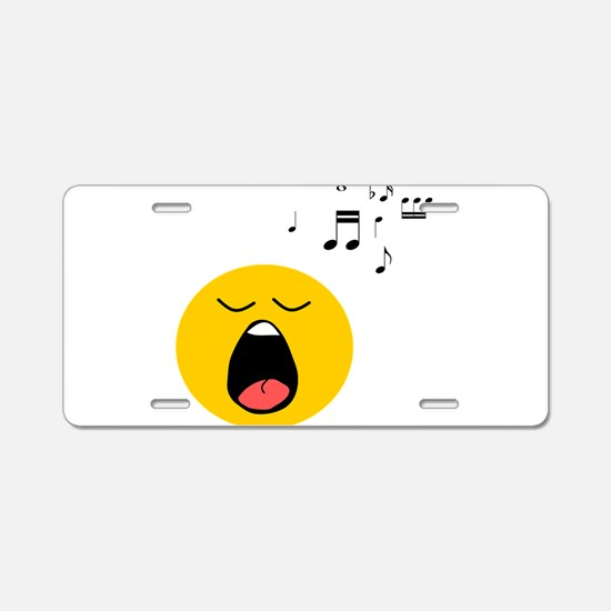 Singing Smiley Aluminum License Plate