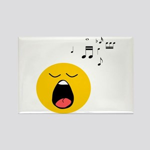 Singing Smiley Rectangle Magnet