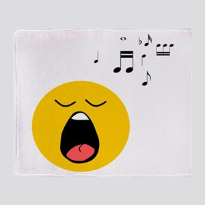 Singing Smiley Throw Blanket