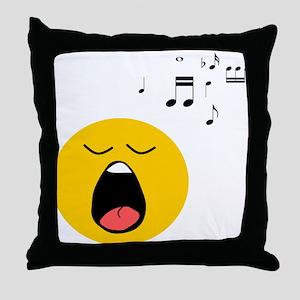 Singing Smiley Throw Pillow