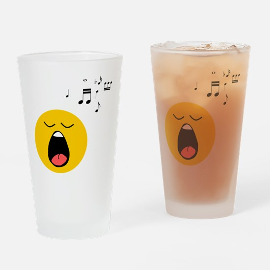 Singing Smiley Drinking Glass