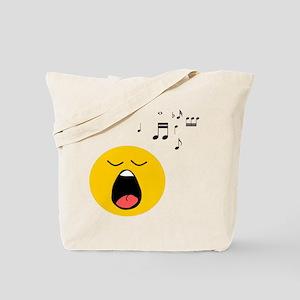 Singing Smiley Tote Bag