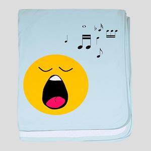 Singing Smiley baby blanket