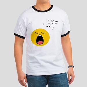 Singing Smiley Ringer T