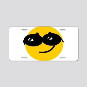 Cool Smiley Aluminum License Plate