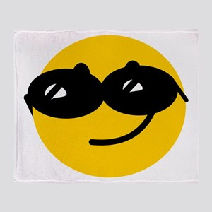 Cool Smiley Throw Blanket