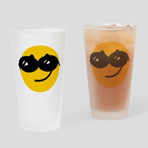 Cool Smiley Drinking Glass