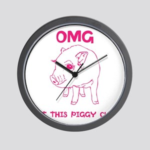 Cute Piggy Wall Clock