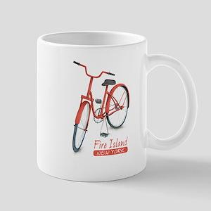 Red Bike Fire Island 11 oz Ceramic Mug