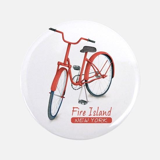 Red Bike Fire Island Button