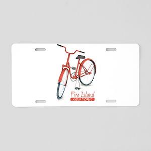 Red Bike Fire Island Aluminum License Plate