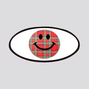 Scottish Tartan Smiley Patches