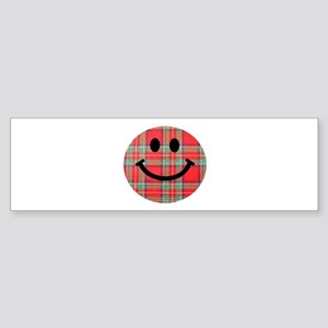Scottish Tartan Smiley Sticker (Bumper)