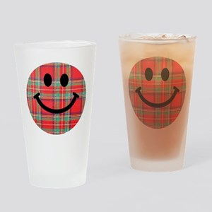 Scottish Tartan Smiley Drinking Glass