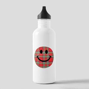 Scottish Tartan Smiley Stainless Water Bottle 1.0L