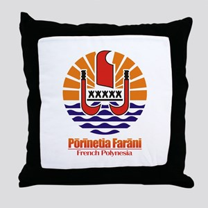 """French Polynesia COA"" Throw Pillow"