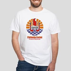 """""""French Polynesia COA"""" White T-Shirt"""