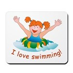 'Girl Swimming'  Mousepad