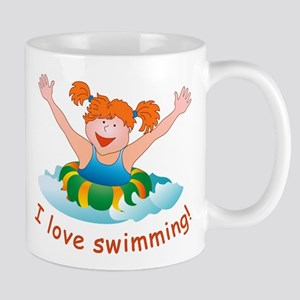 'Girl Swimming'  Mug