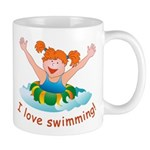 'Girl Swimming'  Mug