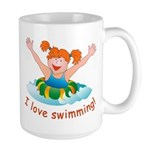 'Girl Swimming'  Large Mug