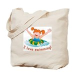'Girl Swimming'  Tote Bag