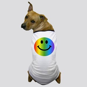 Rainbow Smiley Dog T-Shirt